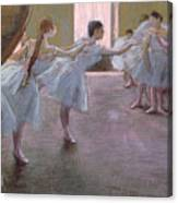 Dancers At Rehearsal Canvas Print