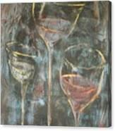 Dancing Glasses Canvas Print