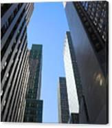 Dark Manhattan Skyscrapers Canvas Print