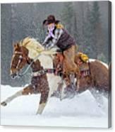 Dashing Through The Snow Canvas Print
