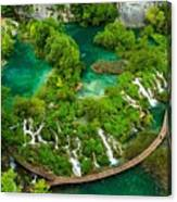 Dave Ruberto - Wonderful Green Nature Waterfall Landscape  Canvas Print