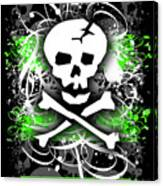 Deathrock Skull Canvas Print