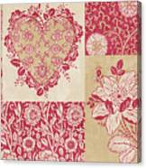 Deco Heart Red Canvas Print