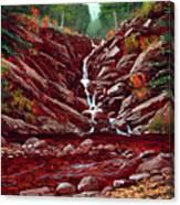 Deepwoods Cascade Canvas Print