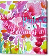 Delicious Pink Canvas Print