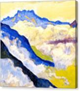 Dents Du Midi In Clouds Canvas Print