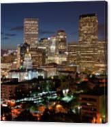 Denver Evening Skyline Canvas Print