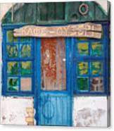 Derelict Greek Cafe-ouzeri Canvas Print