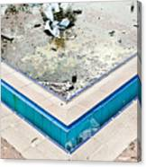 Derelict Swimming Pool Canvas Print