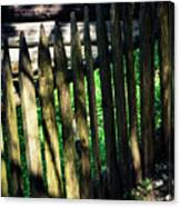 Detail Of An Old Wooden Fence Canvas Print