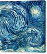 Detail Of The Starry Night Canvas Print