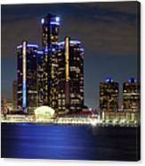 Detroit Skyline Panorama Canvas Print