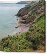 Devon Coastal View Canvas Print