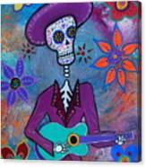 Dia De Los Muertos Mariachi Canvas Print