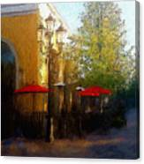 Dining At The Village Canvas Print