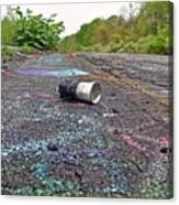 Discarded Spray Paint Can Canvas Print