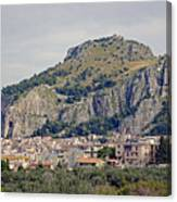 Distant View Of Cefalu Sicily  Canvas Print