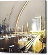 Docklands Double Rainbow Canvas Print