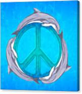 Dolphin Peace Canvas Print