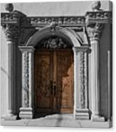 Doorway Of The Santa Teresa De Jesus Church Canvas Print