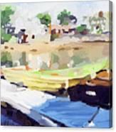 Dories At Beacon Marine Basin Canvas Print