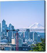 Downtown Cityscape View Of Seattle Washington Canvas Print