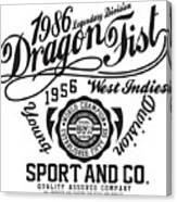 Dragon Fist 1986 Canvas Print