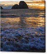 Dramatic Sunset Oregon Coast Usa Canvas Print
