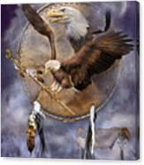 Dream Catcher - Spirit Eagle 2 Canvas Print