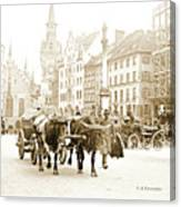 Dresden, Altmarkt Square, Germany, 1903 Canvas Print