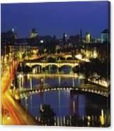 Dublin, Co Dublin, Ireland View Of The Canvas Print