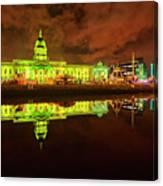 Dublin's Custom House In Green Canvas Print