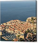 Dubrovnik And The Adriatic Coast In Croatia Canvas Print