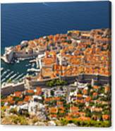 Dubrovnik Old Town From Above Canvas Print