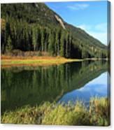 Duffey Lake Reflection In Autumn Canvas Print