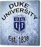 Duke University Est 1838 Canvas Print