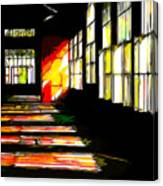 Dusk At The Factory Canvas Print