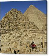 Egypt's Pyramids Of Giza Canvas Print