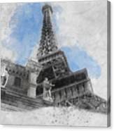 Eiffel Tower Of Paris Canvas Print