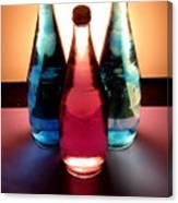 Electric Light Through Bottles Canvas Print