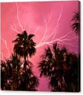 Electrified Palms Canvas Print