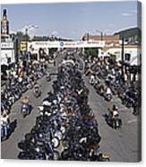 Elevated Panoramic View Of Main Street Canvas Print