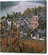 Elevated View Of Bacharach Canvas Print