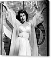 Elizabeth Taylor Diamond Are Forever With Her Collectin Canvas Print