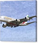 Emirates A380 Airbus Oil Canvas Print