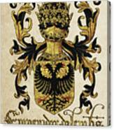 Emperor Of Germany Coat Of Arms - Livro Do Armeiro-mor Canvas Print