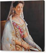 Empress Alexandra Feodorovna Of Russia Canvas Print