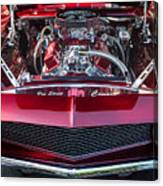 Engine Compartment Of Chromed Camaro Canvas Print