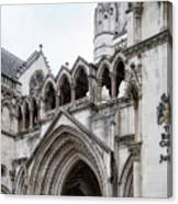 Entrance To Royal Courts Of Justice London Canvas Print