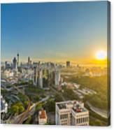 Epic And Beautiful Sunrise At Kuala Lumpur City Center Canvas Print